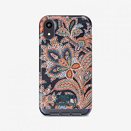 tech21 Evo Luxe Liberty London Grosvenor Phone Case Cover for Apple iPhone XR - Blue