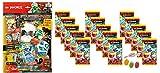 Blue Ocean Lego Ninjago Serie 5 Next Level -1x Starter + 15 Booster Tüten Trading Cards zusätzlich erhalten Sie 1 x Fruchtmix Sticker-und-co Bonbon