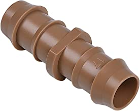 """iRunning 18 Pieces Irrigation Couplings Fittings (17mm) for 1/2"""" Tubing (0.600""""ID) – Barbed Connectors for Sprinkler and Drip Irrigation Systems"""
