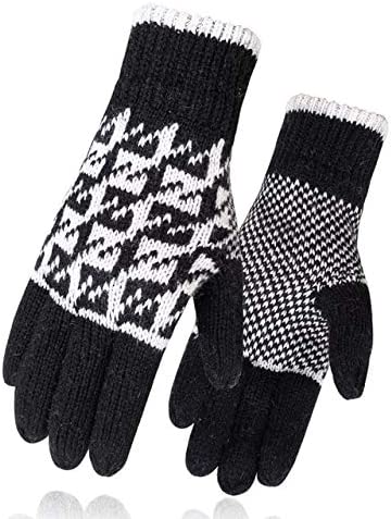 Men Mitten Casual Gloves Knitted Gloves Winter Warm Men&Women Guantes Creative Thicken Gloves Warm Print Quality Gloves - (Color: 4, Gloves Size: One Size)