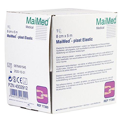MaiMed plast Elastic elastischer Wundschnellverband in 3 Größen, Größen:8 cm x 5 m