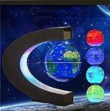Equipo de vida Globo levitante cambiante multicolor Levitación magnética Globo flotante Mapa del mundo Regalos educativos para niños / adolescentes Hogar / oficina Decoración de escritorio Adorno Glob