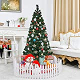 Toolsempire Artificial Fiber Optic 3/4/5/6 Ft Green Christmas Tree Spruce Tree with Stand Perfect for Indoor Holiday Decoration (5 feet)