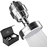 Luxury Shower Filter Water Purifier - 15 Stage Shower head Water Softener - Remove Chlorine, Fluoride, Hard Water, Rust, Mineral Buildup - Ionic Treatment Adds Vitamin C and E by Exclusive Home Goods