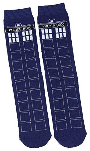 DOCTOR WHO Arzt, der TARDIS voller Kissen Slipper Socken mit Profil