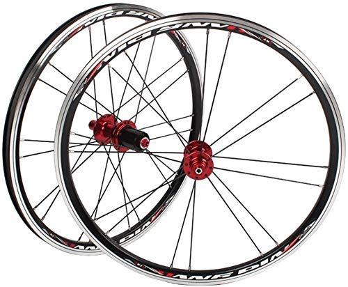 BMX 406 451 Rims Folding Bicycle Wheelset 20 Inch Bike Wheel C/V- Brake Sealed Bearings Hubs Quick Release For 7/8/9/10 Speed Cassette 1.0-2.1 Tire