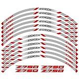 WUYOUNYL Etiqueta de Motocicleta Pegatina Frente Rueda Trasera Calcomanías Reflectantes Pegatinas Impermeables Pegatinas Rim Stripes Ajuste for Kawasaki Z750 Z 750 (Color : 240117)