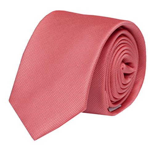 Fabio Farini - einfarbige und elegante Krawatte in verschiedenen Farben und Breiten zur Auswahl Dunkelrosa 6cm