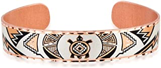 Handmade Copper Wrist Cuff Bracelet for Women, Girls in Native American Turtle Design- Wildlife Jewelry, Adjustable