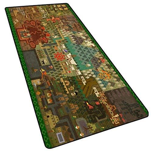 Alfombrilla de ratón para videojuegos XXL grande Monster Hunter World Anime Keyboard Mat extendido para computadora de escritorio PC portátil Mouse Pad (color: O, tamaño: 700 x 300 x 3 mm)