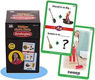 Super Duper Publications Webber Photo Flash Cards Analogies Early Reader Educational Learning Resource for Children