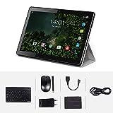 4G Tablette Tactile 10 Pouces Android 32Go ROM, 3Go RAM Tablette Dual SIM GPS, WiFi, Bluetooth, Type-c (Black)