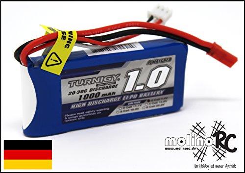 Turnigy 1000 mAh 2S 7,4V RC Lipo Power Akku 20C-30C Segler Heli