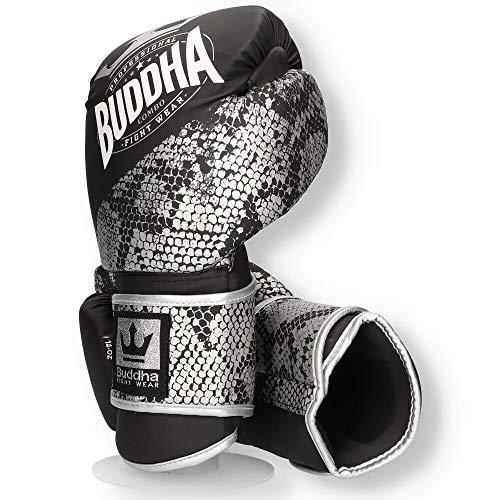 Buddha Fight Wear Guantes de Boxeo Combo Silver 14 Onz