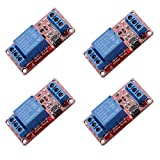 4 pcs DC 5V 1 Channel Relay Module Board Shield High/Low Level Trigger with Optocoupler...
