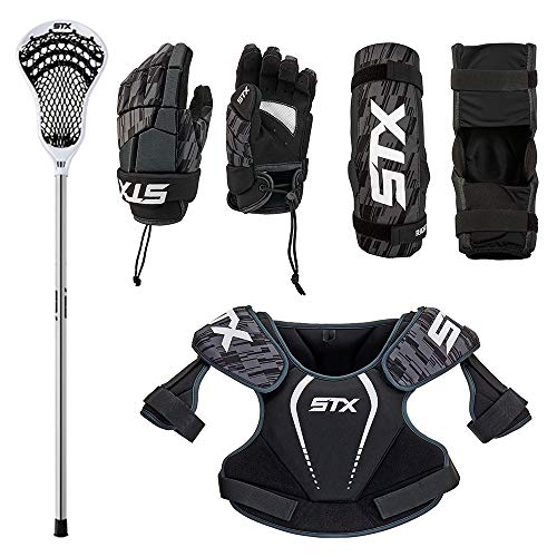 STX Lacrosse Boys Lacrosse Youth Starter Set, XSmall, Black