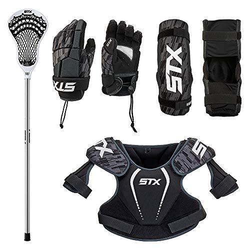 STX Lacrosse Boys Lacrosse Youth Starter Set, XSmall, Black