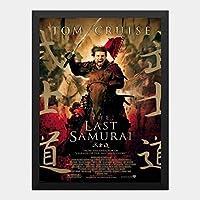 ハンギングペインティング - ラストサムライ THE LAST SAMURAI トムクルーズ 1のポスター 黒フォトフレーム、ファッション絵画、壁飾り、家族壁画装飾 サイズ:33x24cm(額縁を送る)