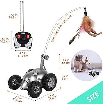 Lukovee Jouet pour chat télécommandé sans fil - En forme de souris - Mouvement interactif - Pour chatons, instincts de chasse - Cadeau amusant pour animaux de compagnie (piles non incluses)