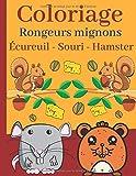Coloriage: Rongeurs mignons Écureuil - Souri - Hamster: Rongeurs à colorier pour les enfants à partir de 4 ans | Coloriages mignons et uniques (Souri, hamster, cochon d'Inde, écureuil)