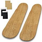 """Beipoo 2 Packs 31""""x 8"""" Blank Skateboard Deck,Natural,7-Layer Maple Double Tail Skateboard with Free Grip Tape and Sandpaper,Great for Replacement and Decorate It Yourself"""