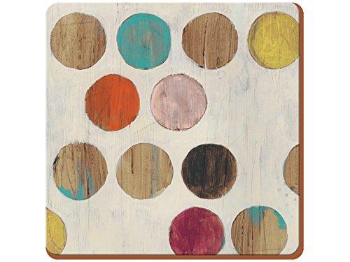 CREATIVE TOPS Juego de 6 manteles Individuales, Parte Posterior de Corcho, diseño de vinos, Madera, Multicolor, Coasters