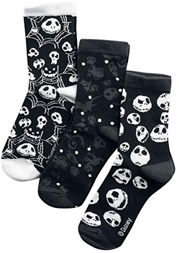 The Nightmare Before Christmas Skulls and Cobwebs Frauen Socken Multicolor EU 35-38