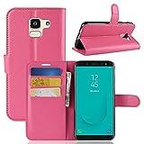 CoverKingz Handytasche für Samsung Galaxy J6 2018 Handyhülle, Flip Hülle Cover, Schutzhülle mit Kartenfach, Handy Hülle Pink