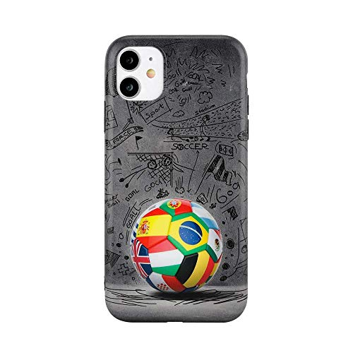 World of Soccer Futbol with Football Countries Case Full Protective Luxury Hard Case Premium Quality Silicone TPU Fashion Designer Compatible with iPhone (iPhone 7/8/SE 2020)