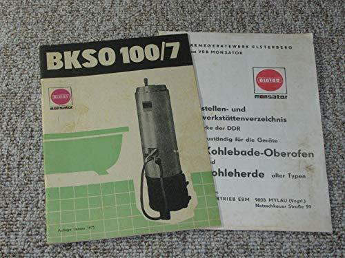 Aufstellungs- und Bedienungsanleitung für Kohlebadeofen-Oberofen BKSO 100/7