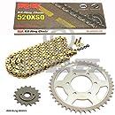 20 cadena RK GB 428 MXZ 130 abierto Oro 14//52 Juego de cadenas adecuado para Yamaha YZF R125 19