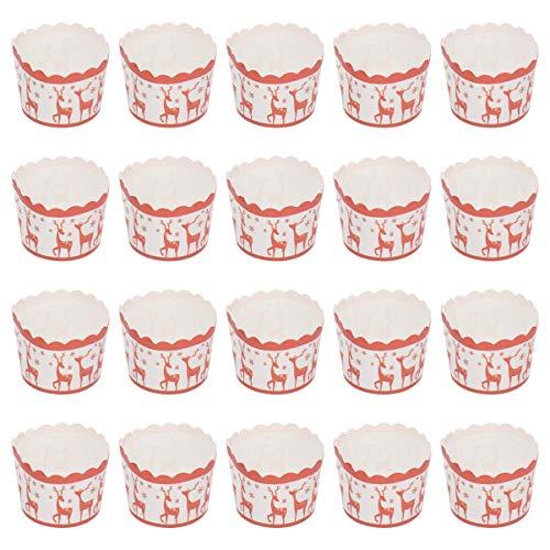 Hemoton 100 unidades de vasos de papel resistentes al calor con ciervo...