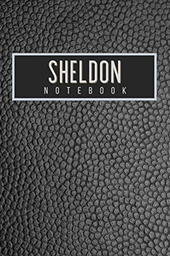 Sheldon Notebook: Personalised gift notebook for Sheldon: Beautiful black leather effect notebook notepad: Handy 6x9in size.