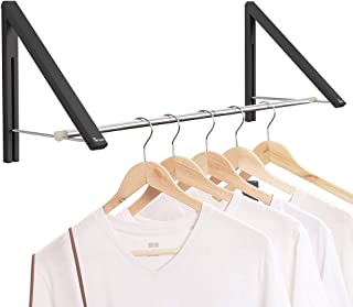 Anjuer Porte-vêtements rétractable - Porte-vêtements Pliant fixé au Mur pour Le Rangement de la penderie de la buanderie, ...