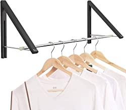 Anjuer Retractable Clothes Rack - Wall Mounted Folding Clothes Hanger Drying Rack for Laundry Room Closet Storage Organiza...
