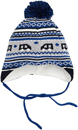 Sterntaler Baby-Jungen Strickmütze Mütze, Blau (Atlantik 307), 47