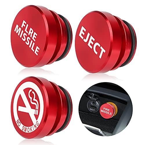 EEEKit 3PCS Aluminio Encendedor de Cigarrillos Enchufes, 12V Prueba de Polvo Enchufes de Botón de Palanquilla Cubierta de Repuesto para la Mayoría de Los Automóviles Vehículos Botes Automáticos