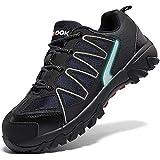 Zapatos de Seguridad para Hombre con Puntera de Acero Zapatillas de Seguridad Trabajo, Calzado de Industrial y Deportiva(C Negro,42 EU)