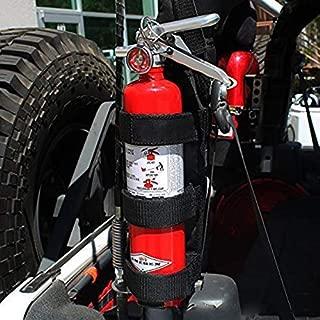 Nylon Bar Fire Extinguisher Holder Car Fire Extinguisher,Auto Car Fire Extinguisher Fixing Holder Belt for Automobile Jeep Wrangler TJ YJ CJ Parts Fire Extinguisher & Black Holder