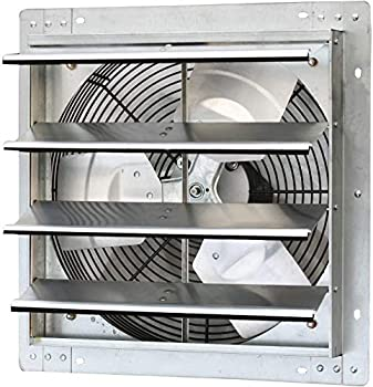 iLiving - 16  Wall Mounted Exhaust Fan - Automatic Shutter - Variable Speed - Vent Fan For Home Attic Shed or Garage Ventilation 1200 CFM 1800 SQF Coverage Area