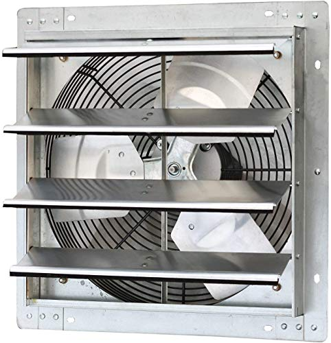 """iLiving - 16"""" Wall Mounted Exhaust Fan - Automatic Shutter - Variable Speed - Vent Fan For Home Attic, Shed, or Garage Ventilation, 1200 CFM, 1800 SQF Coverage Area"""