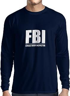 a60638d4c1bef lepni.me T-Shirt Manches Longues Homme Inspecteur du Corps féminin -  Cadeaux drôles