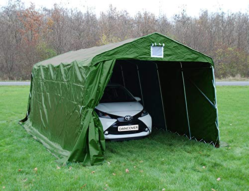 Dancover Zeltgarage Garagenzelt PRO 3,3x6x2,4m PVC, Grün