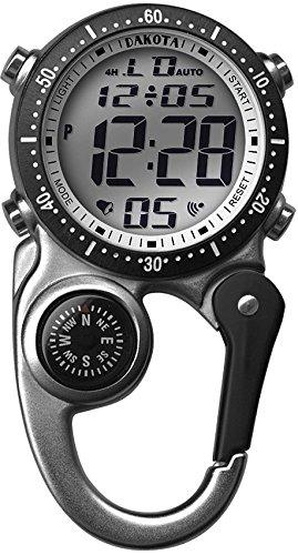 Dakota Watch Company Digi Clip Watch, Silver
