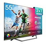 Hisense UHD TV 2020 55AE7400F - Smart TV 55' Resolución 4K, Dolby Vision, Wide Color Gamut, audio DTS Virtual-X, Ultra Dimming, Vidaa U 4.0, con Alexa integrada