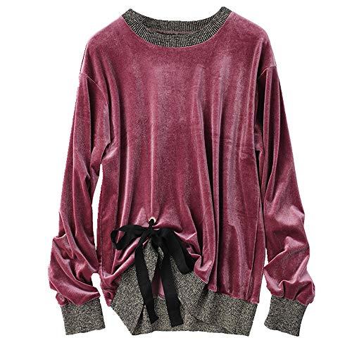 NOBRAND Primavera Moda Nuevo Fondo Camisa Suelta Casual Manga Larga Mujer Camiseta Top
