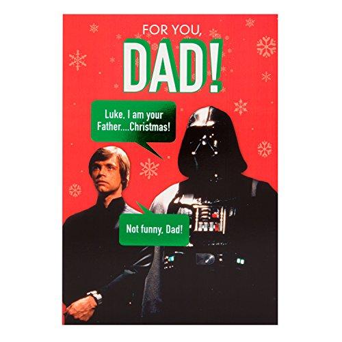 Hallmark Star Wars Weihnachtskarte für Väter, Innentext 'I Am Your Father', englischer Text, mittlere Größe