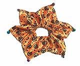 Lanyarco Halloween Pet Holiday Accessories Cat Costume for Halloween, Pumpkin Collar Orange