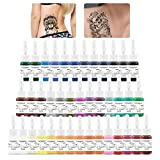 Tatooine Tattoo Ink Set Complete 40 Colors Pigment Kit Tattoo Supply for Tattoo Kit 5ml Each Bottle