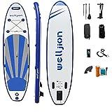 Radelldar Tabla Paddle Surf Hinchable 150kg Sup Paddle Surf Tabla de Stand Up Paddling 305 x 76 x 15 cm con Remo Ajustable Bomba Correa de Transporte Caja de Reparación Mochila